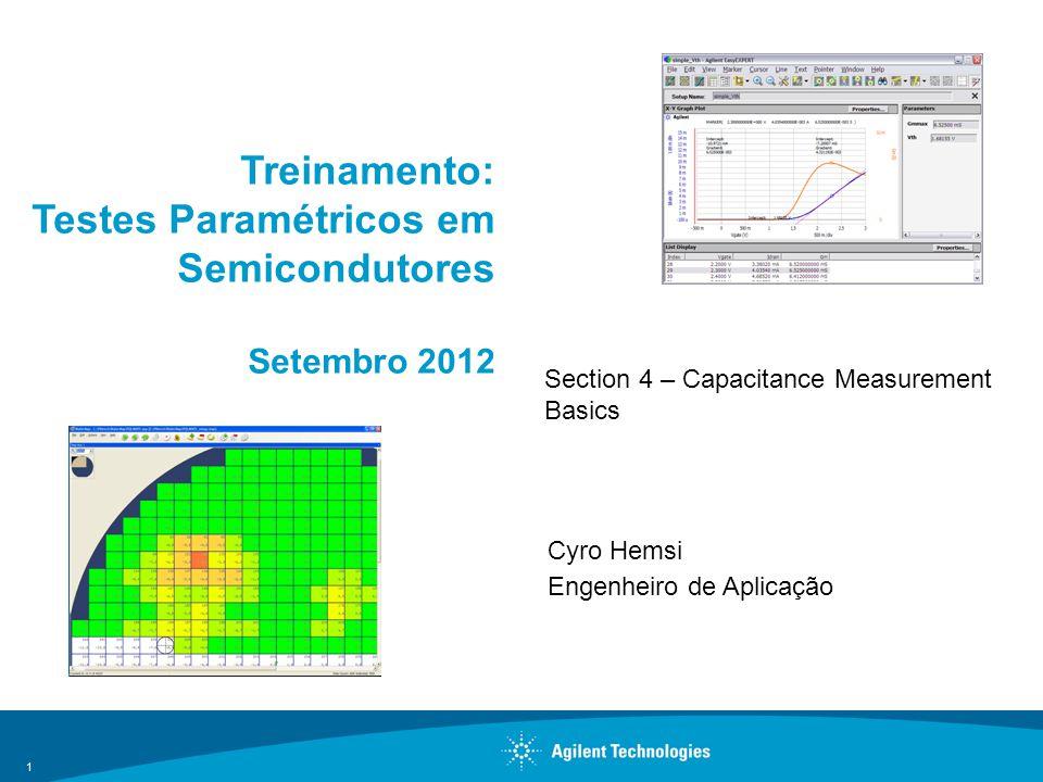 Treinamento: Testes Paramétricos em Semicondutores Setembro 2012