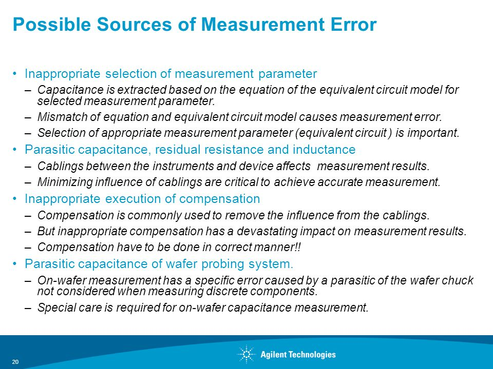 Possible Sources of Measurement Error