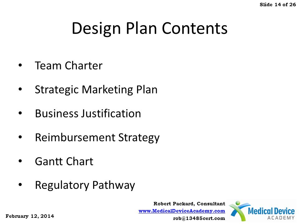 Design Plan Contents Team Charter Strategic Marketing Plan