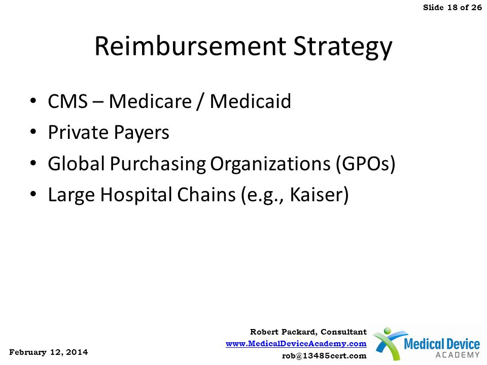Reimbursement Strategy