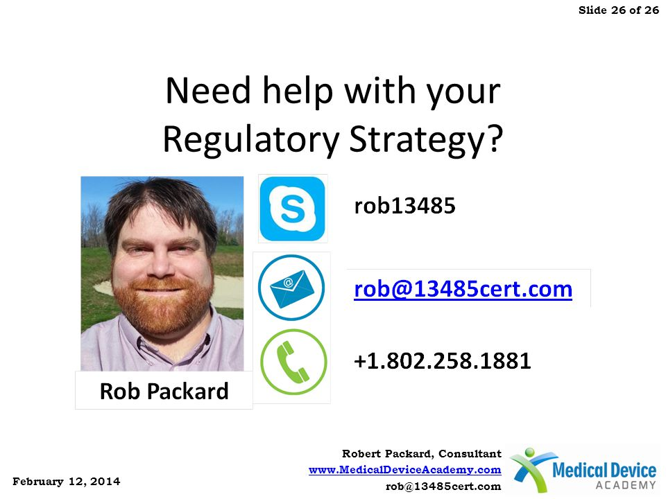 Need help with your Regulatory Strategy