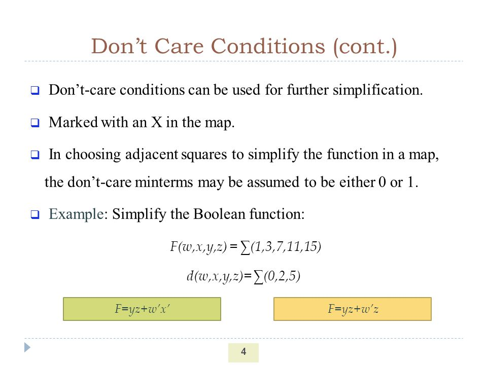 Don't Care Conditions (cont.)