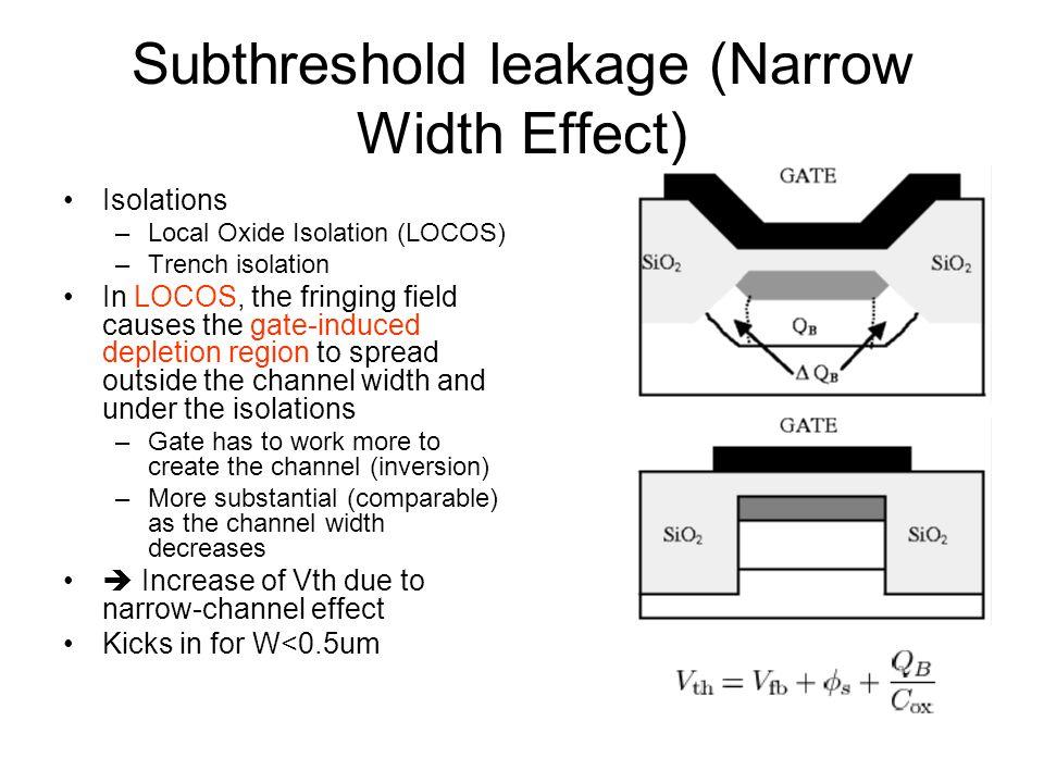 Subthreshold leakage (Narrow Width Effect)