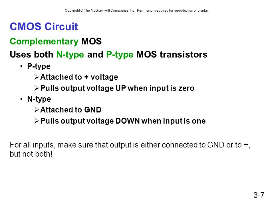 CMOS Circuit Complementary MOS