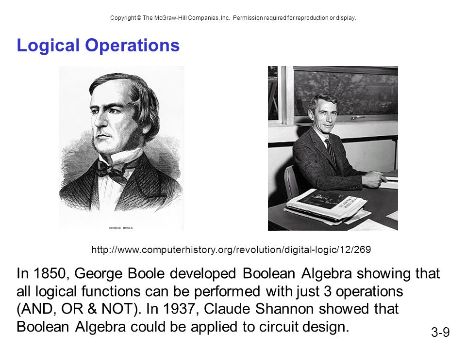 Logical Operations http://www.computerhistory.org/revolution/digital-logic/12/269.