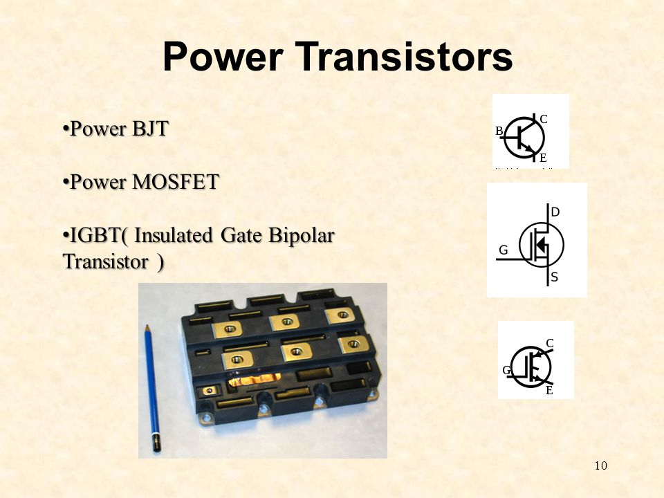 Power Transistors Power BJT Power MOSFET