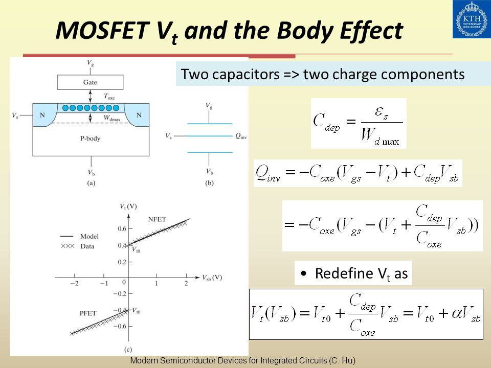 MOSFET Vt and the Body Effect