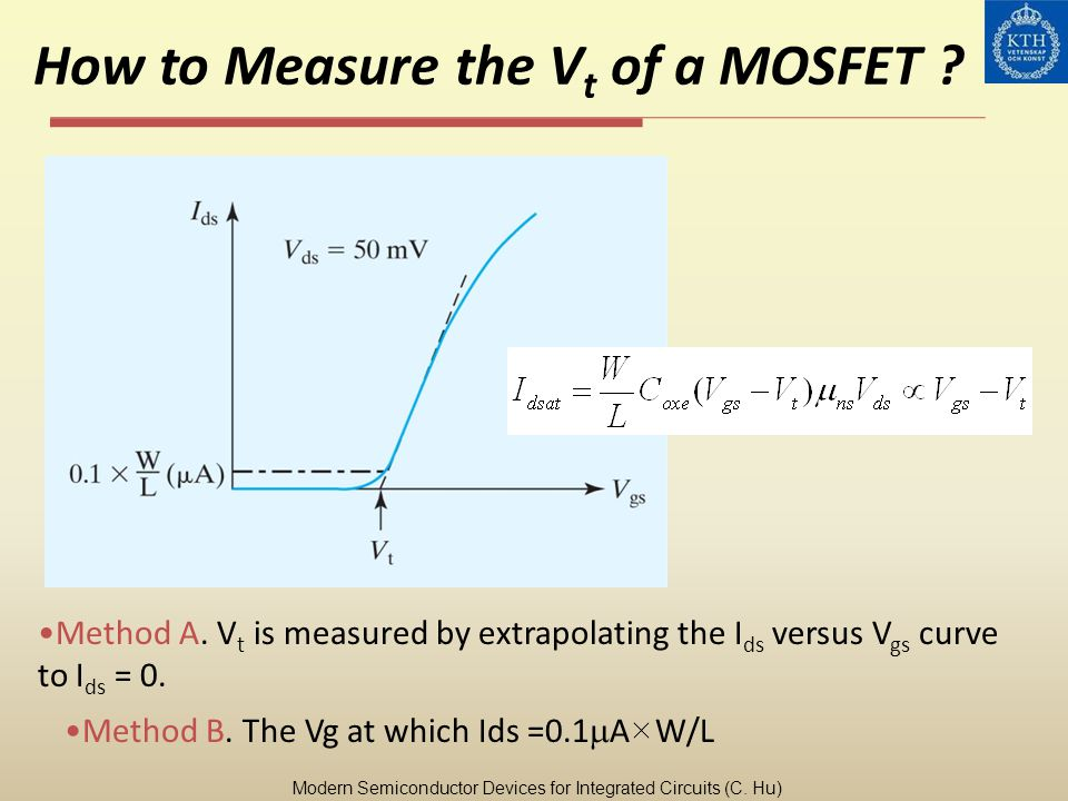 How to Measure the Vt of a MOSFET