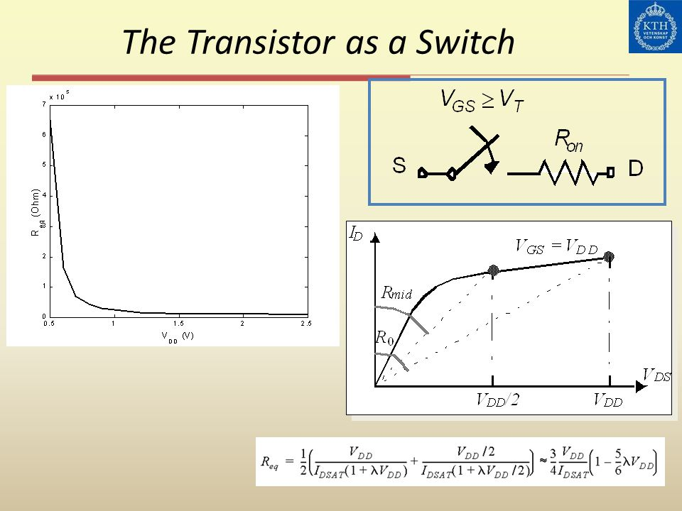 The Transistor as a Switch