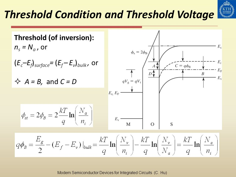 Threshold Condition and Threshold Voltage