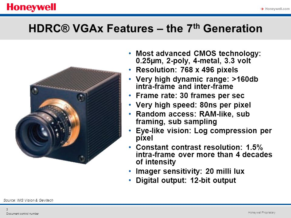 HDRC® VGAx Features – the 7th Generation