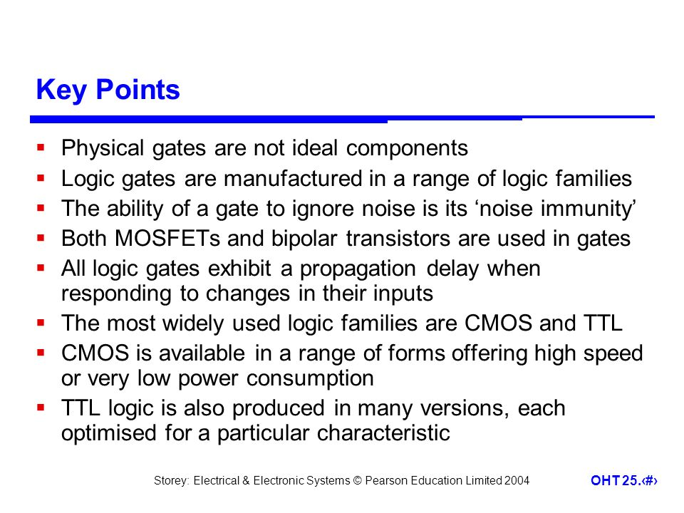 Key Points Physical gates are not ideal components