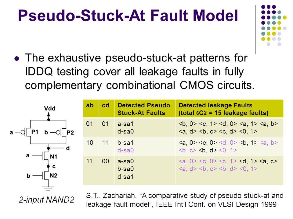 Pseudo-Stuck-At Fault Model