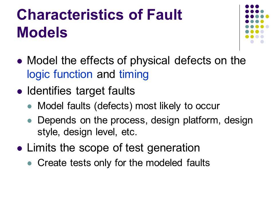Characteristics of Fault Models