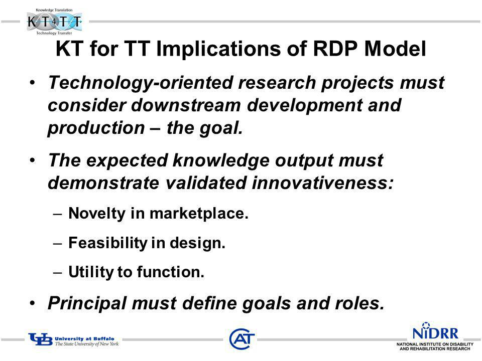 KT for TT Implications of RDP Model