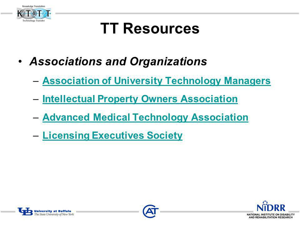 TT Resources Associations and Organizations