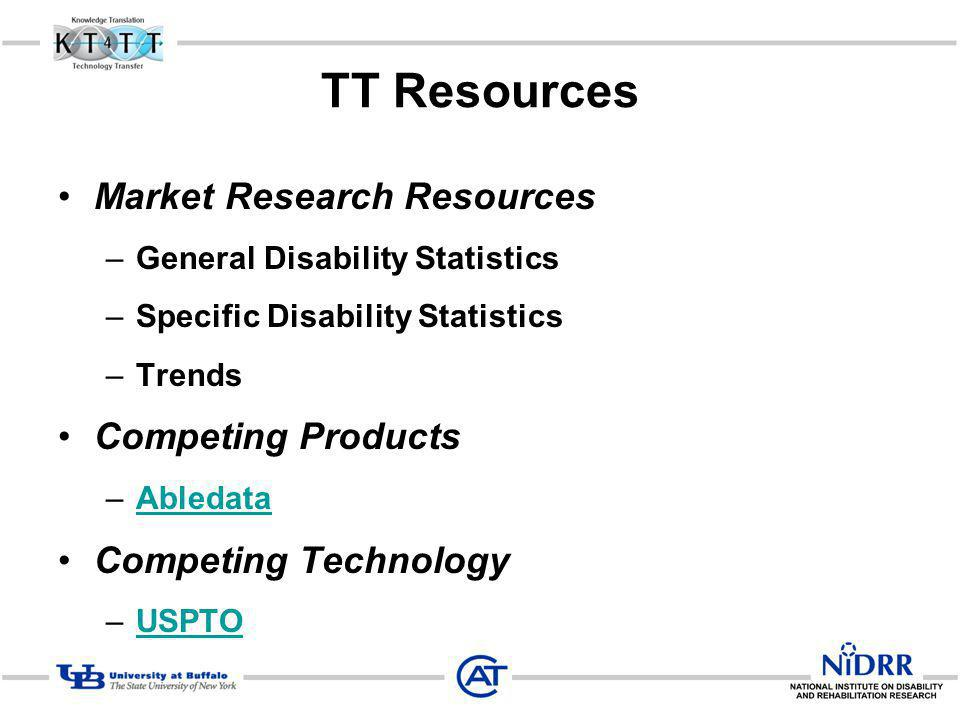 TT Resources Market Research Resources Competing Products