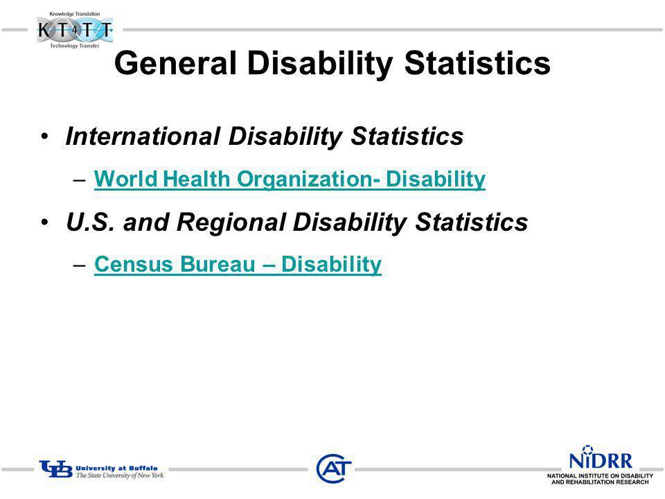 General Disability Statistics