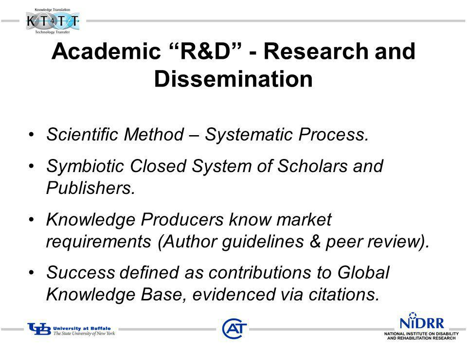 Academic R&D - Research and Dissemination