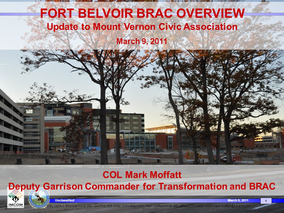 FORT BELVOIR BRAC OVERVIEW
