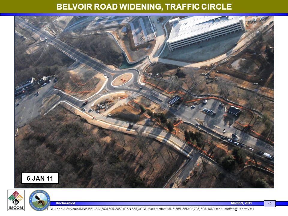 BELVOIR ROAD WIDENING, TRAFFIC CIRCLE
