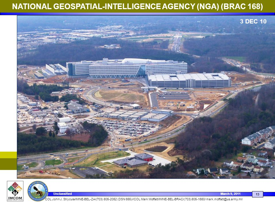 NATIONAL GEOSPATIAL-INTELLIGENCE AGENCY (NGA) (BRAC 168)