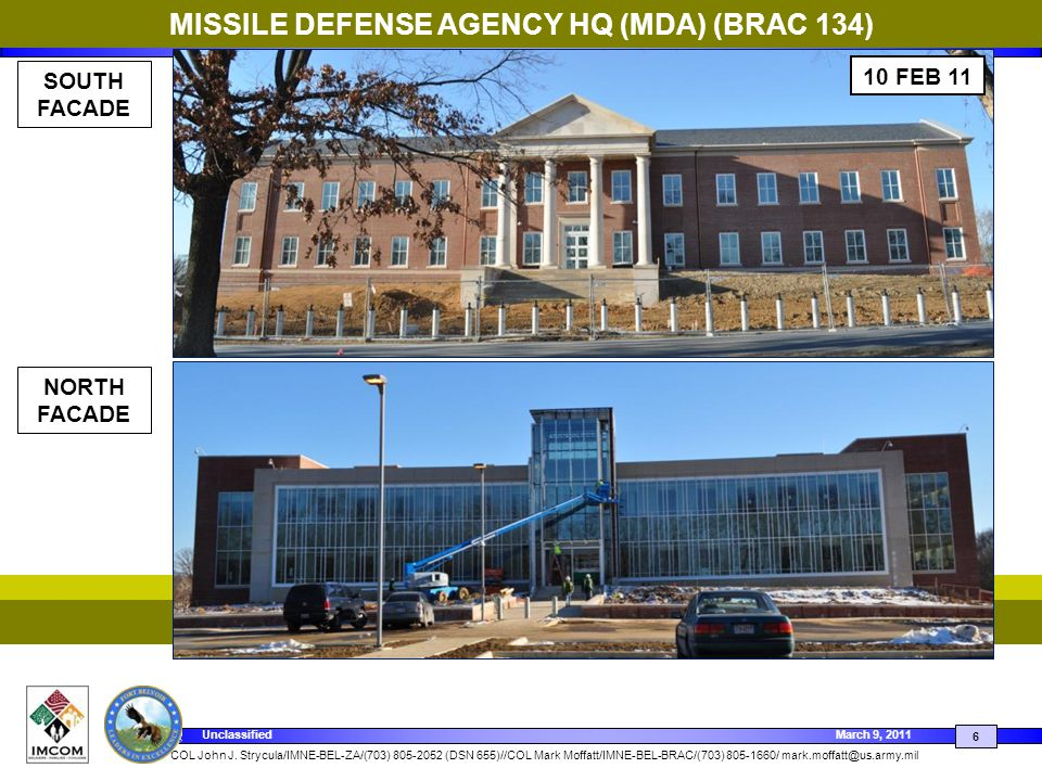 MISSILE DEFENSE AGENCY HQ (MDA) (BRAC 134)