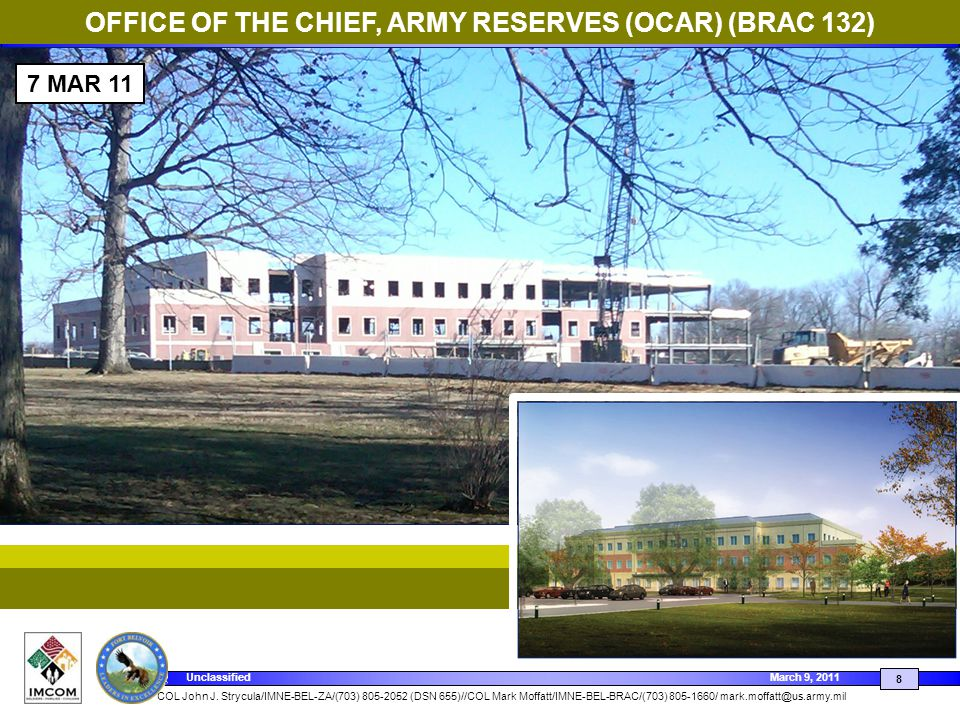 OFFICE OF THE CHIEF, ARMY RESERVES (OCAR) (BRAC 132)