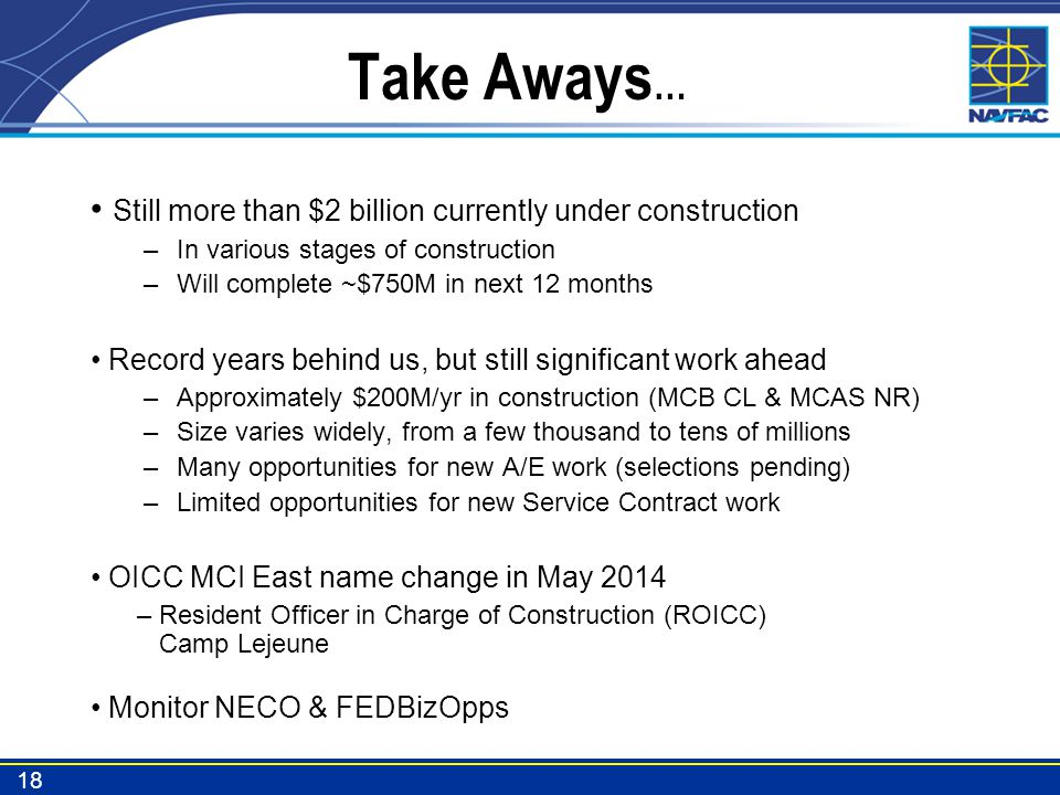 Take Aways… Still more than $2 billion currently under construction