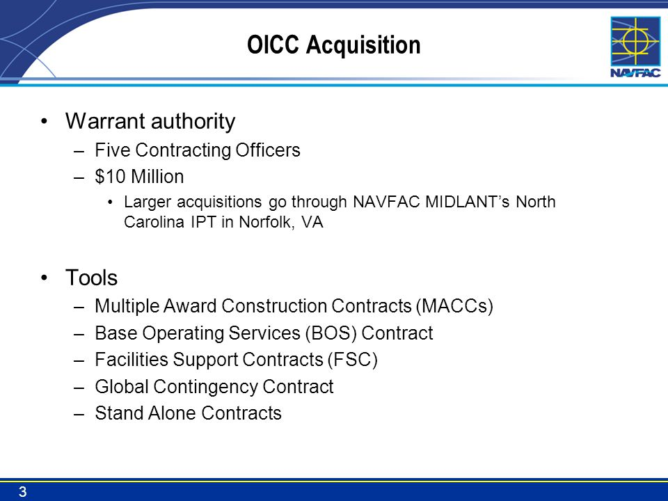 OICC Acquisition Warrant authority Tools Five Contracting Officers