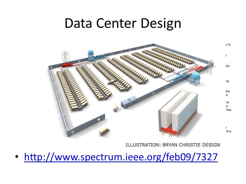 Data Center Design http://www.spectrum.ieee.org/feb09/7327