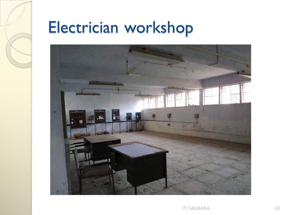 Electrician workshop ITI SAGBARA