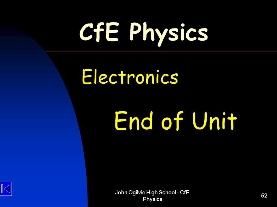 John Ogilvie High School - CfE Physics