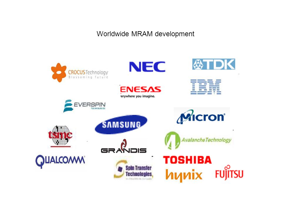 Worldwide MRAM development