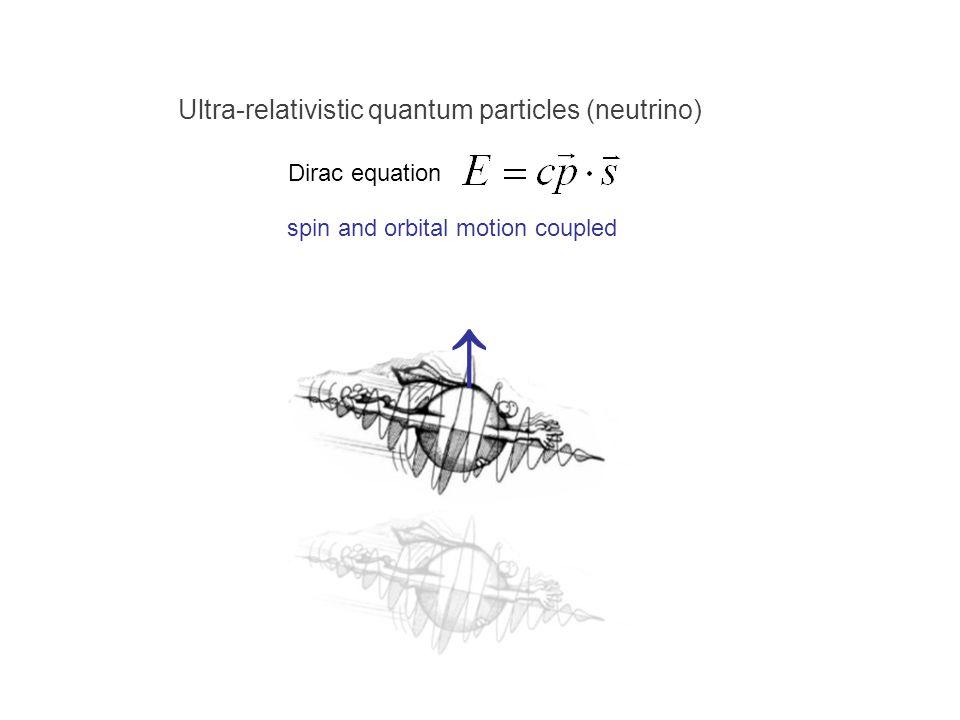  Ultra-relativistic quantum particles (neutrino) Dirac equation