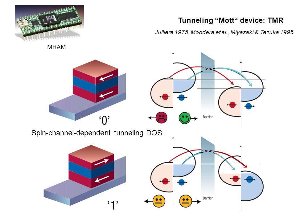 Tunneling Mott device: TMR