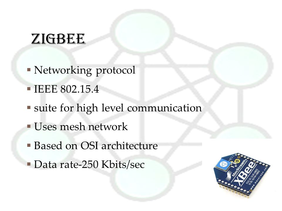 ZIGBEE Networking protocol IEEE 802.15.4