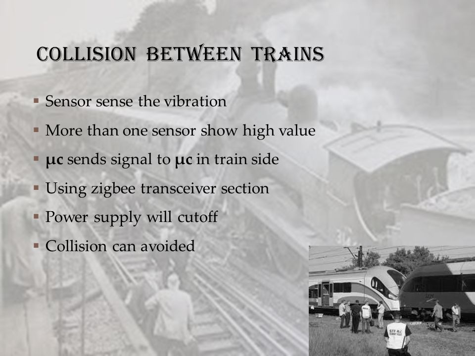 Collision between trains