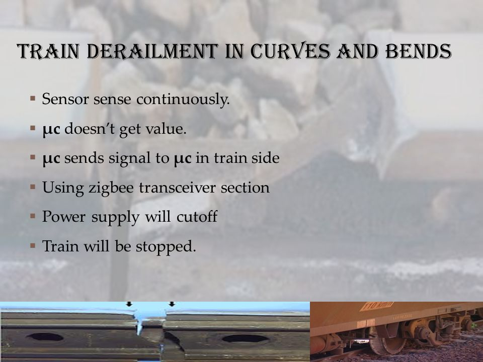 Train derailment in curves and bends