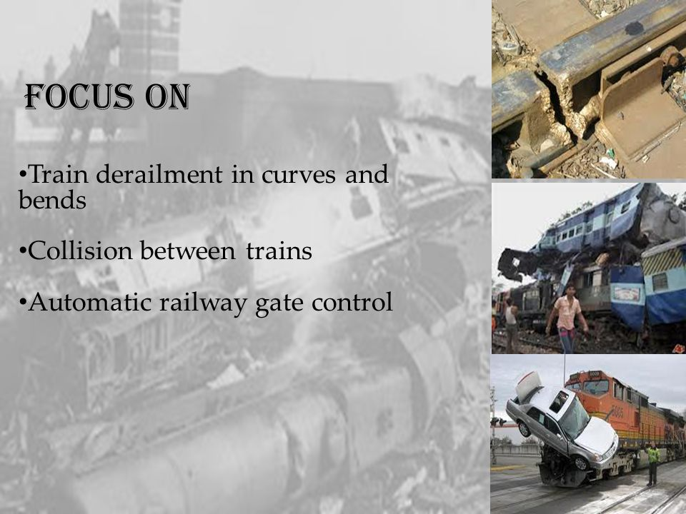 FOCUS ON Train derailment in curves and bends Collision between trains