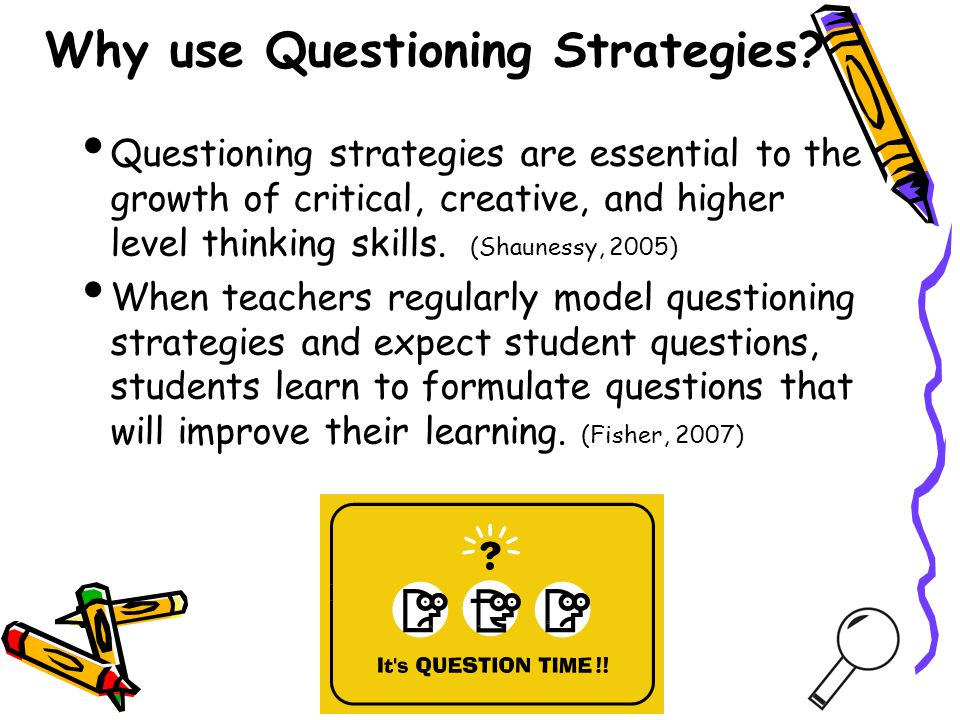 Why use Questioning Strategies