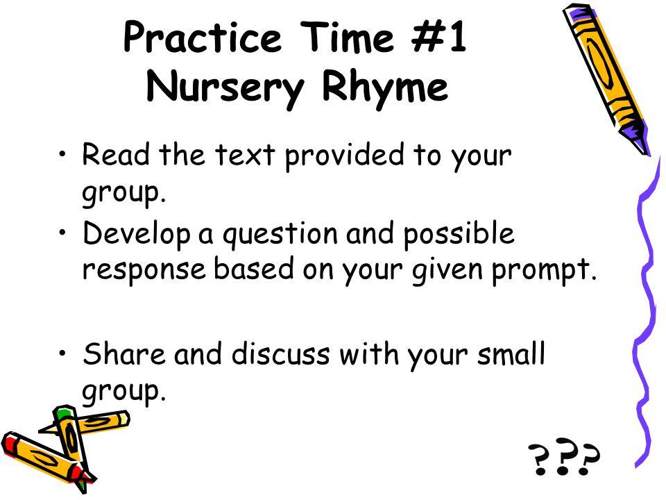 Practice Time #1 Nursery Rhyme