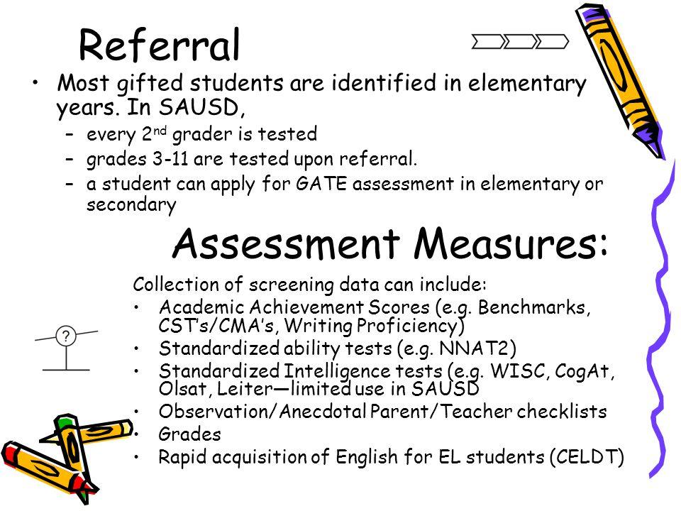Referral Assessment Measures: