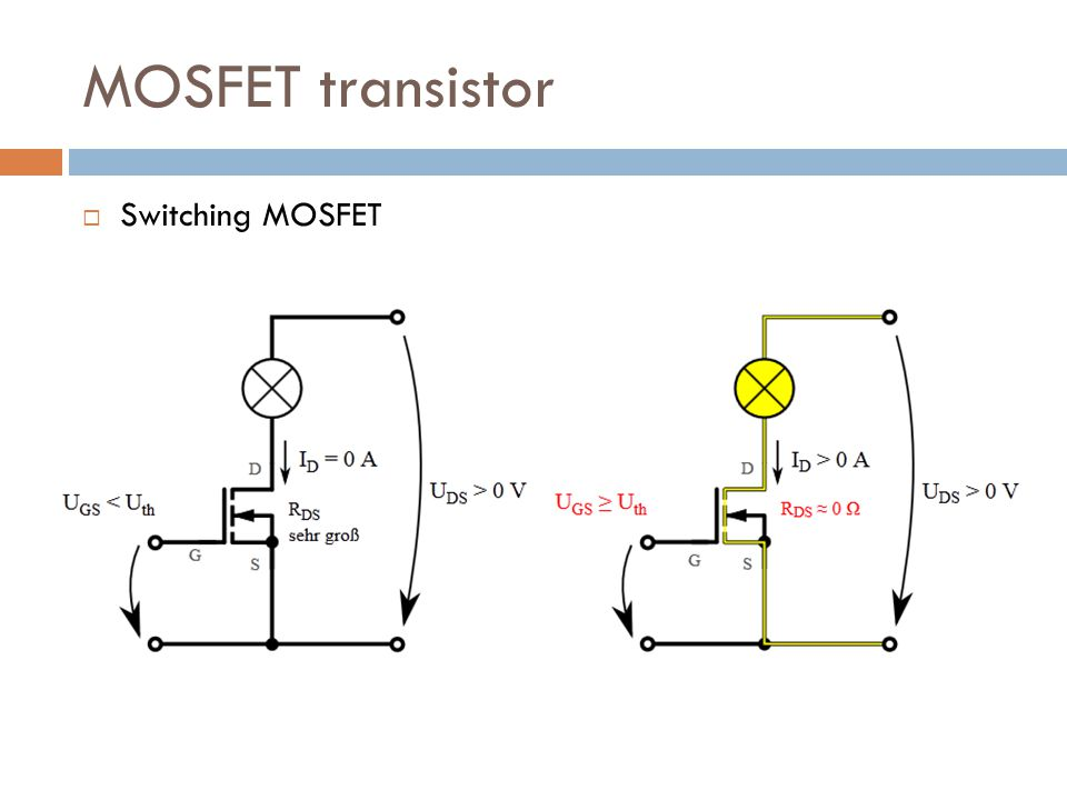 MOSFET transistor Switching MOSFET