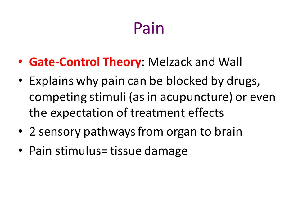 Pain Gate-Control Theory: Melzack and Wall