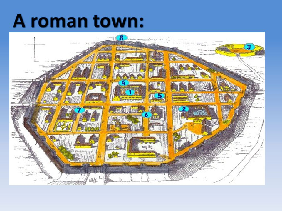 A roman town:
