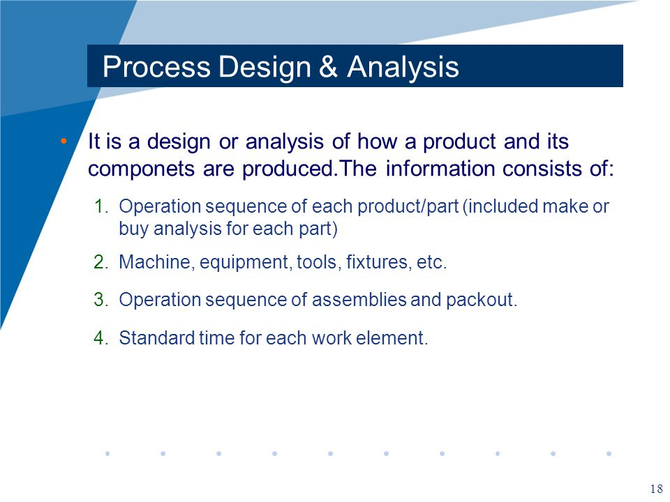 Process Design & Analysis