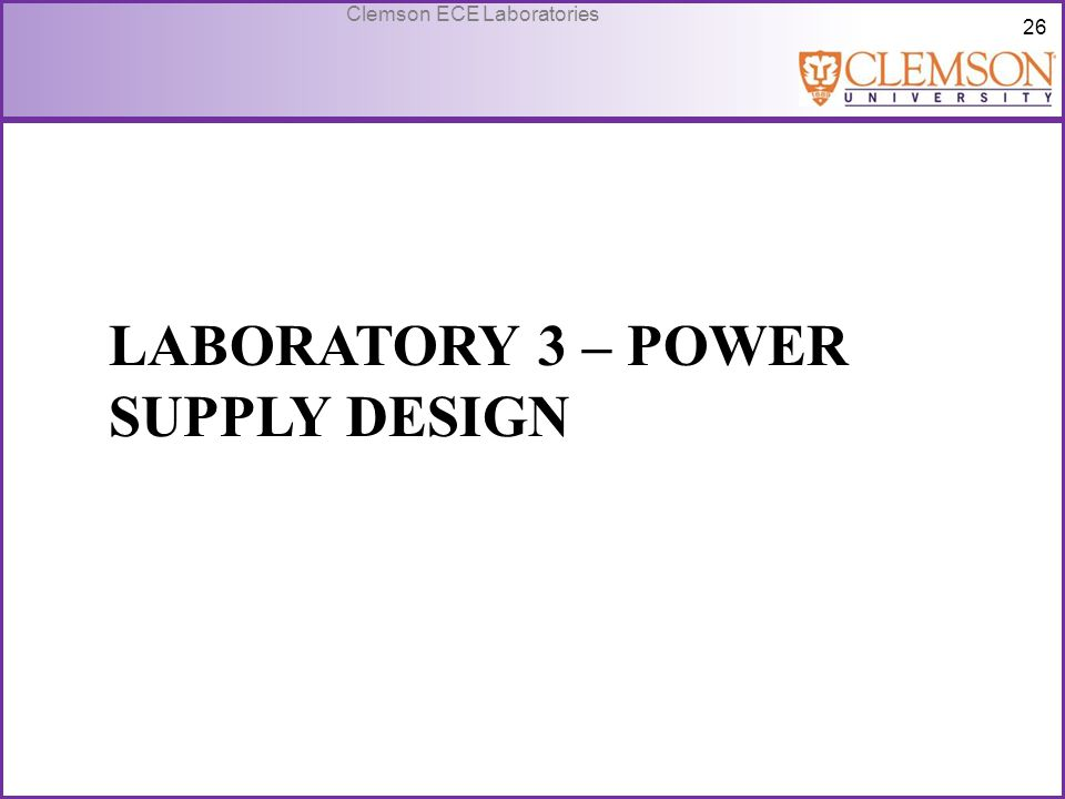 Laboratory 3 – Power Supply Design