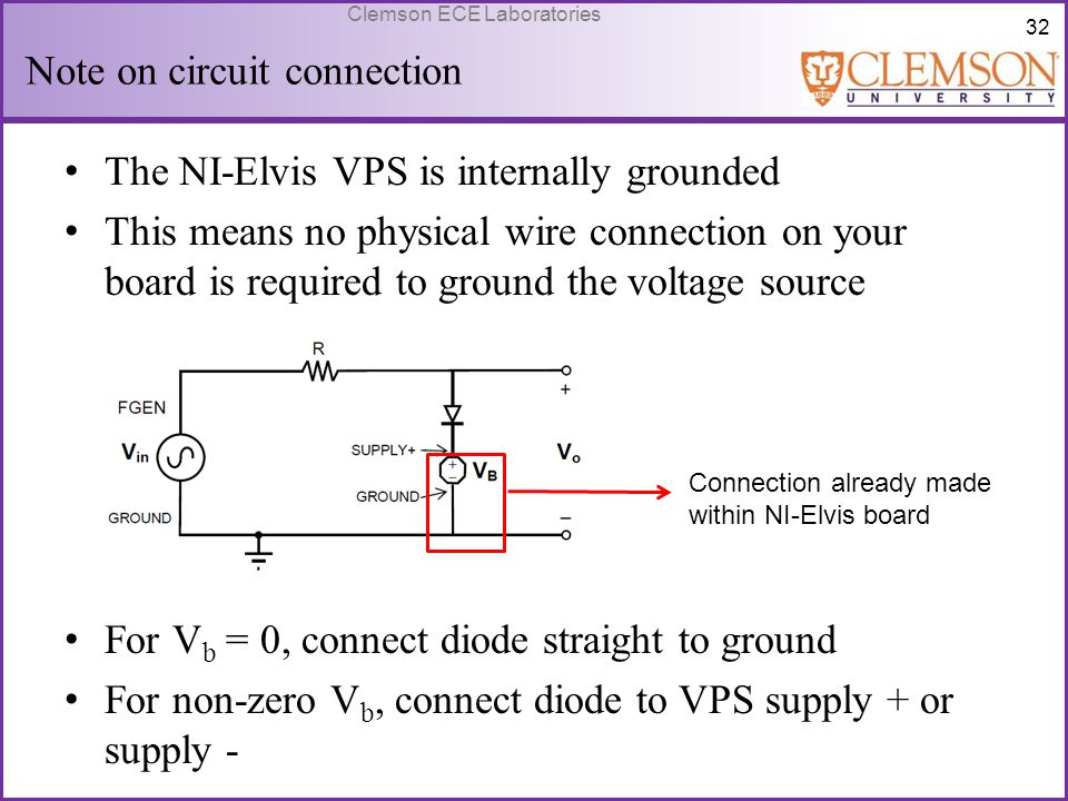 Note on circuit connection