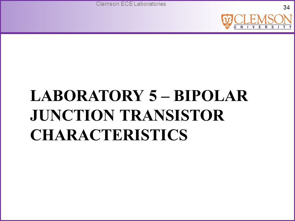 Laboratory 5 – Bipolar Junction transistor characteristics